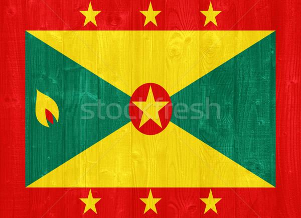 Grenada zászló káprázatos festett fa palánk Stock fotó © luissantos84