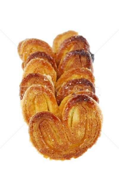Palmier cookies on white Stock photo © luissantos84