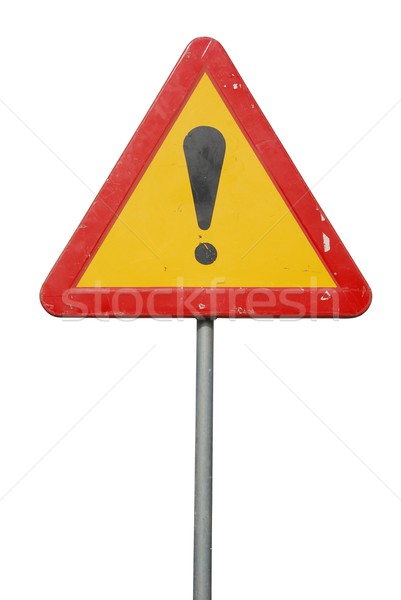 Construction road sign Stock photo © luissantos84