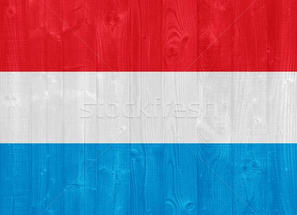 Luksemburg banderą przepiękny malowany drewna deska Zdjęcia stock © luissantos84