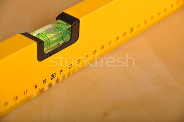 Construction niveau jaune brun bois design Photo stock © luissantos84
