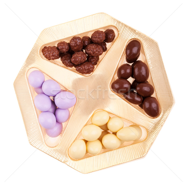 Chocolate almonds box Stock photo © luissantos84
