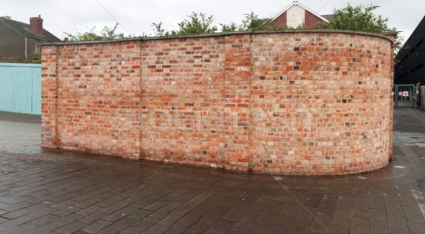 Muro di mattoni magnifico panoramica foto rosso urbana Foto d'archivio © luissantos84
