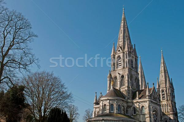 святой плавник собора пробка Ирландия Blue Sky Сток-фото © luissantos84