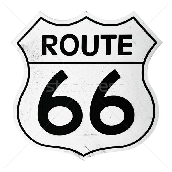 Ruta 66 signo vintage aislado blanco fondo Foto stock © luissantos84