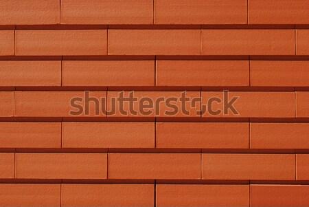 Parede de tijolos belo laranja casa fundo pedra Foto stock © luissantos84