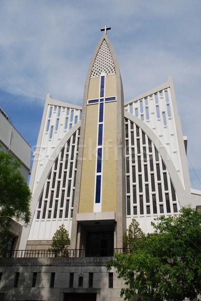 Nossa Senhora Auxiliadora Church in Lisbon Stock photo © luissantos84