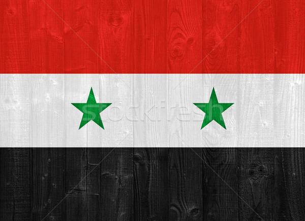 Syrië vlag prachtig geschilderd hout plank Stockfoto © luissantos84