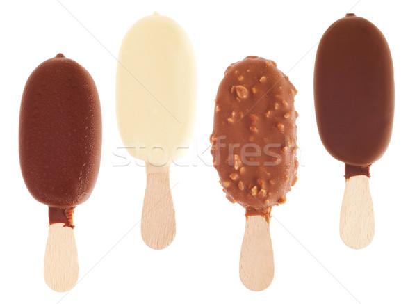 チョコレート 氷 ミルク 白 アーモンド ストックフォト © luissantos84