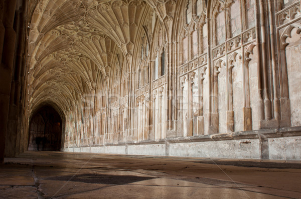Cloister in Gloucester Cathedral Stock photo © luissantos84