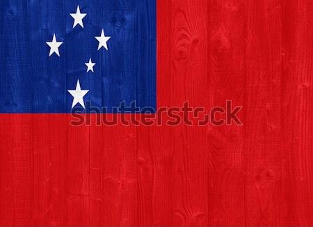 Samoa bandeira pintado madeira Foto stock © luissantos84