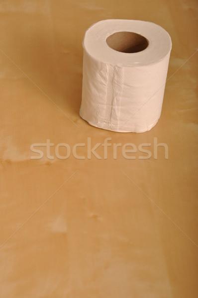 Carta igienica rotolare rosolare legno bagno WC Foto d'archivio © luissantos84