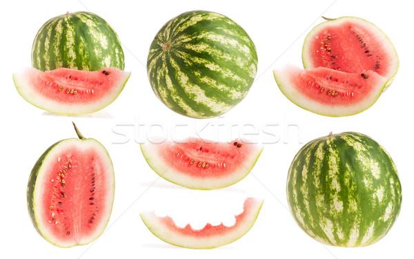 Melancia inteiro metade fatia fruto coleção Foto stock © luissantos84