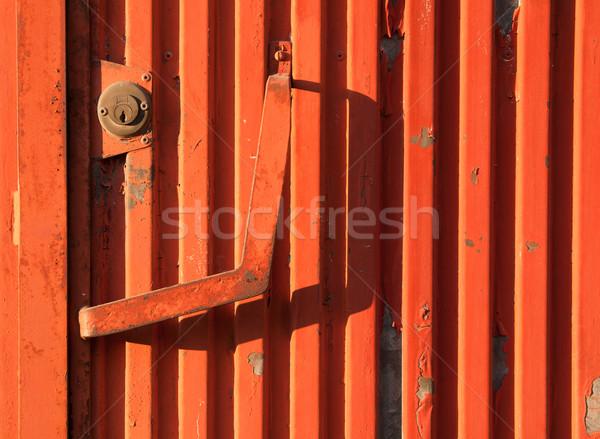 Rusty iron door Stock photo © luissantos84
