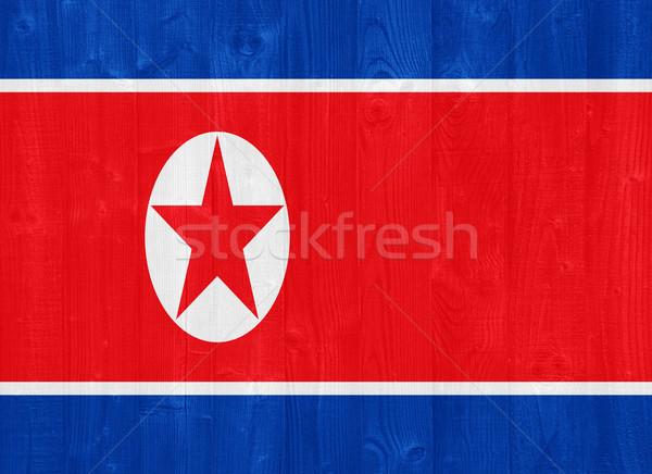 North Korea flag Stock photo © luissantos84
