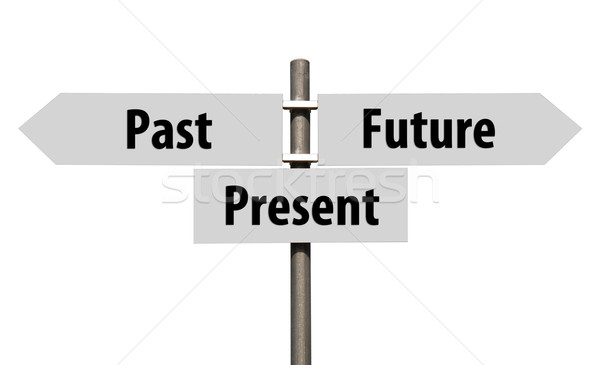 Past, Present and Future sign Stock photo © luissantos84