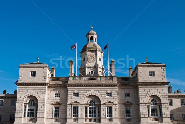 лошади здании Лондон Англии Blue Sky синий Сток-фото © luissantos84