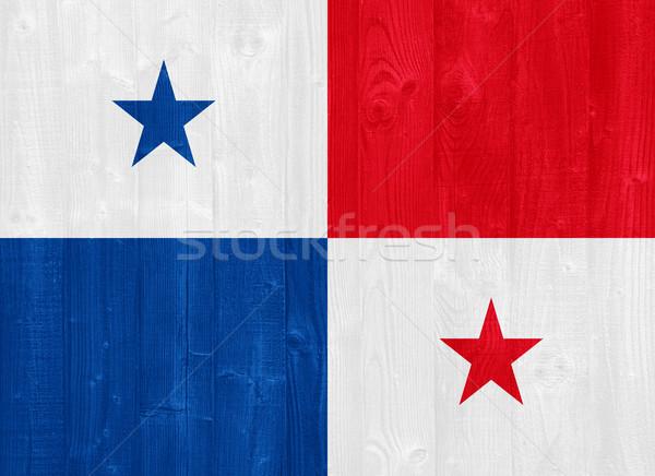 Panama zászló káprázatos festett fa palánk Stock fotó © luissantos84