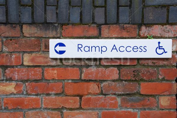 Ramp access sign Stock photo © luissantos84