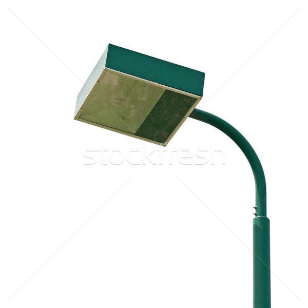 Estádio lâmpada postar verde isolado branco Foto stock © luissantos84