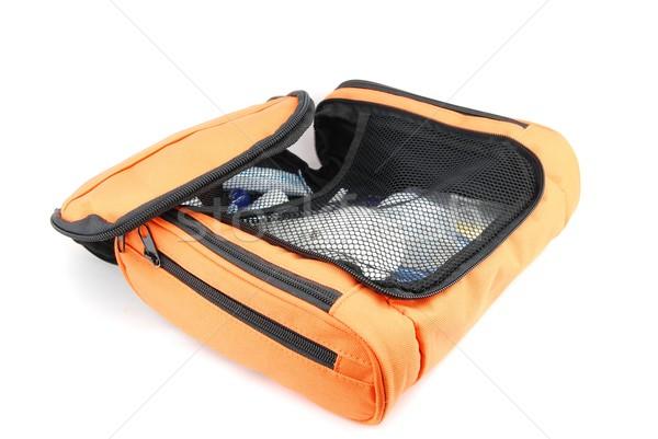 Naranja bolsa abierto aislado blanco mujer Foto stock © luissantos84