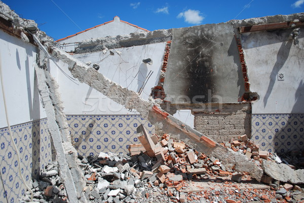Construction site of a residential area Stock photo © luissantos84