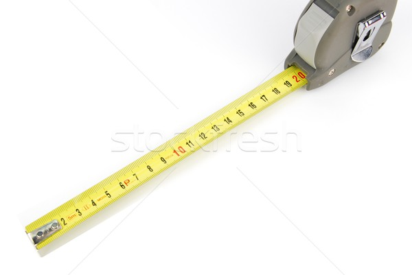 Stock photo: Retractable steel tape measure