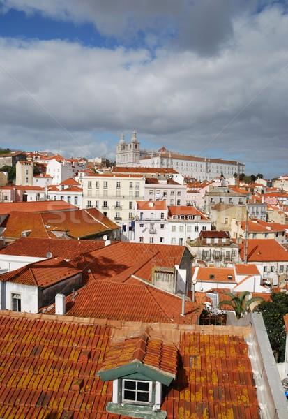 Sao Vicente de Fora church in Lisbon Stock photo © luissantos84