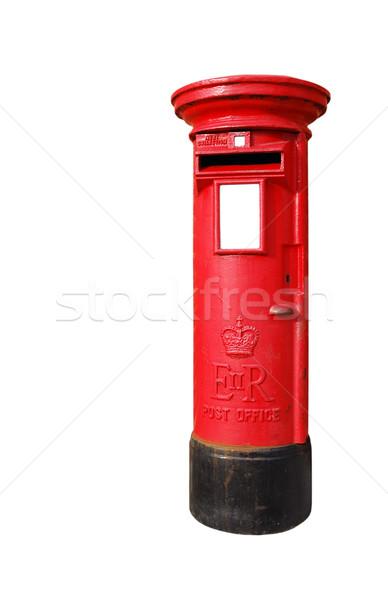 Zdjęcia stock: Brytyjski · typowy · czerwony · odizolowany · biały
