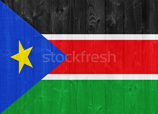 South Sudan flag Stock photo © luissantos84