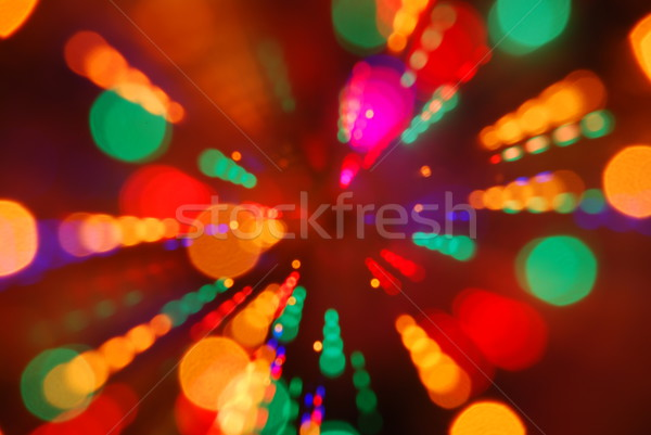 Christmas lichten Blur beweging abstract Stockfoto © luissantos84