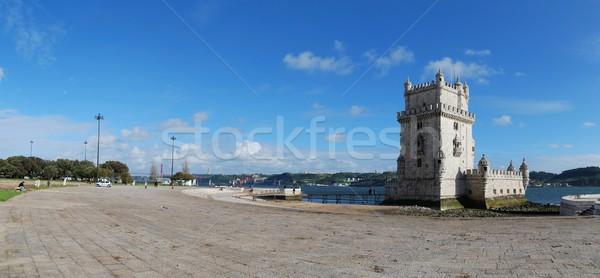 башни Лиссабон Португалия панорамный мнение один Сток-фото © luissantos84