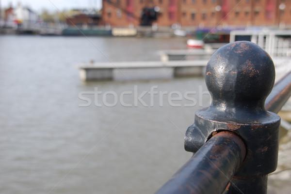 Sekély mező acél kerítés labda Anglia Stock fotó © luissantos84