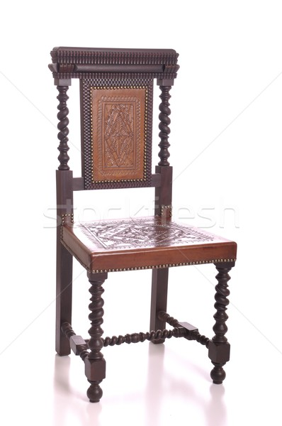 Black wood chair Stock photo © luissantos84