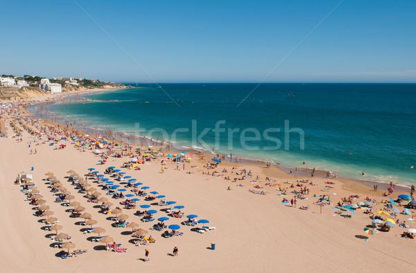 Plaj Portekiz ağustos 30 Stok fotoğraf © luissantos84