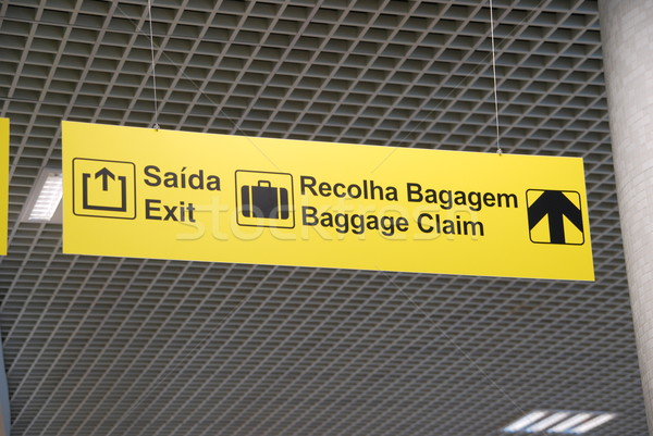 Exit and baggage claim sign Stock photo © luissantos84