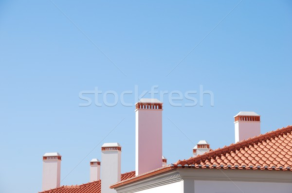 Classic chimneys background Stock photo © luissantos84