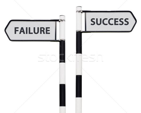 Stock fotó: Siker · kudarc · feliratok · kép · jelzőtáblák · izolált