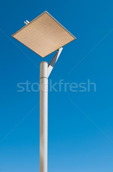 Lâmpada postar urbano moderno blue sky Foto stock © luissantos84