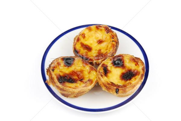 Portugese pastries called pasteis de nata Stock photo © luissantos84