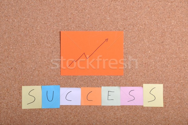 Sucesso palavra chave traçar colorido nota documentos Foto stock © luissantos84