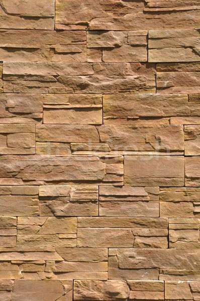 Muro di pietra vibrante rosolare sfondo rock pietra Foto d'archivio © luissantos84