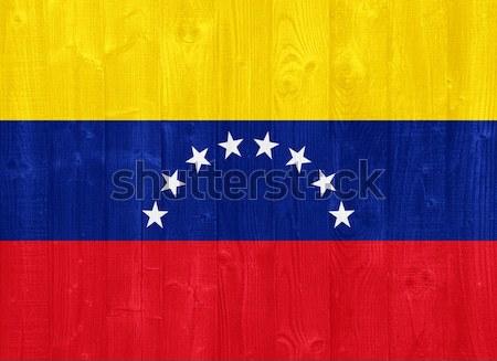 Venezuela bandiera magnifico verniciato legno Foto d'archivio © luissantos84