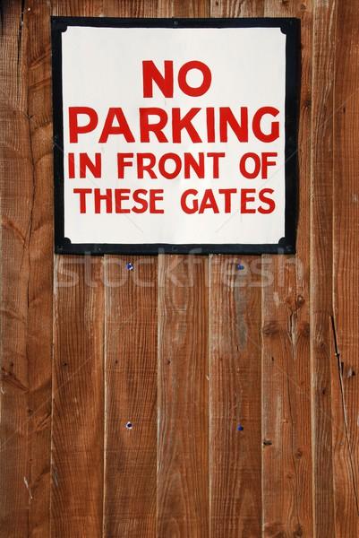 Vintage segno legno recinzione sfondo Foto d'archivio © luissantos84