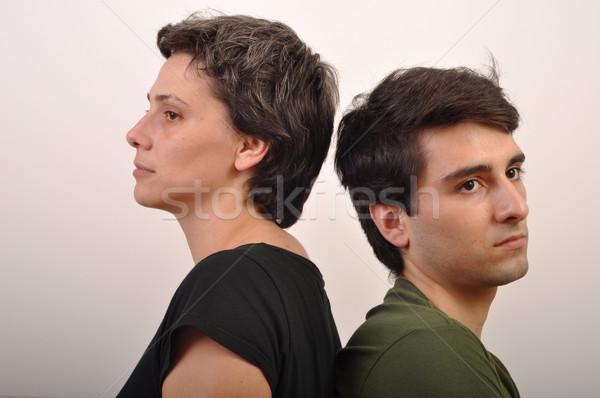 Hermana hermano problemas alterar hombre triste Foto stock © luissantos84