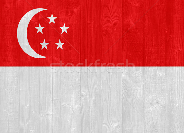 Stock photo: Singapore flag