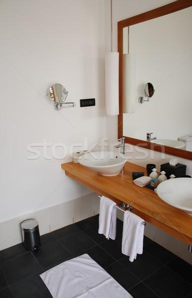 Interior detail of a modern bathroom Stock photo © luissantos84