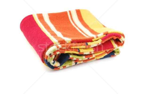 Colorato sciarpa strisce multicolore isolato Foto d'archivio © luissantos84