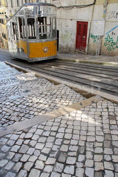 Bica elevator tram in Lisbon, Portugal Stock photo © luissantos84