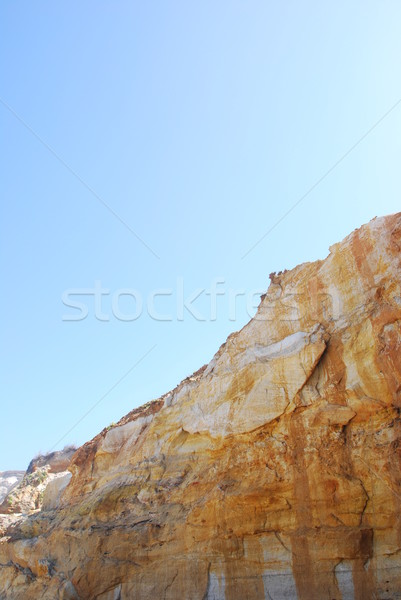 Cliff at Praia del Rey Stock photo © luissantos84
